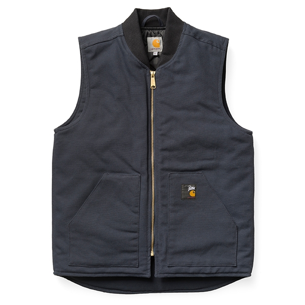 Carhartt WIP Patta Vest - Deep Night/White