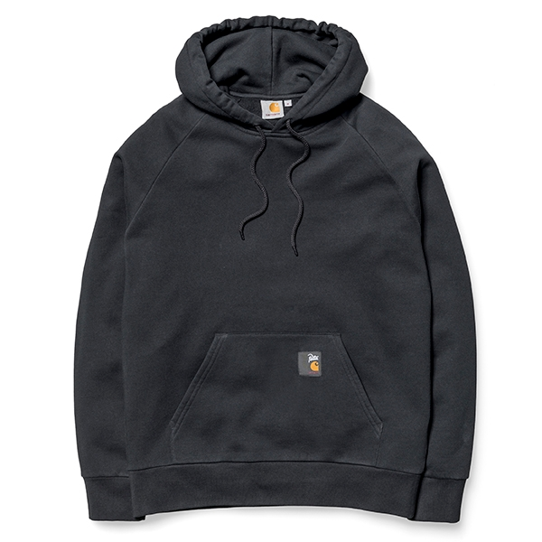 Carhartt WIP Hooded Patta Sweat - Black/White